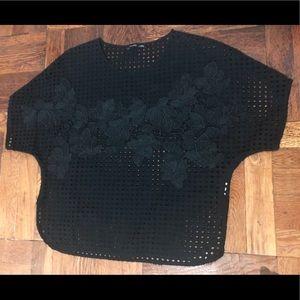 Zara Black See-through Top
